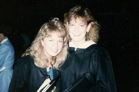 Michelle Larson Stimpson & Dawn Maidment Ankney_'87 graduation