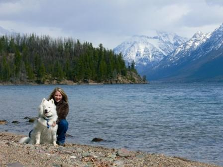 Gail Lynne Goodwin & Koda_Glacier National Park