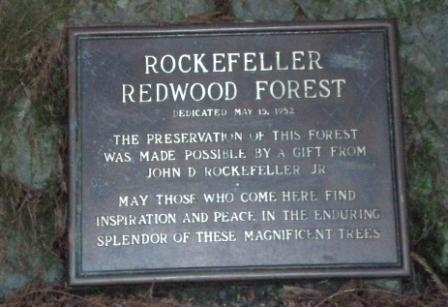 Rockefeller Forest Sign