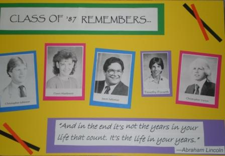 SLP Class of '87 Memorial Board