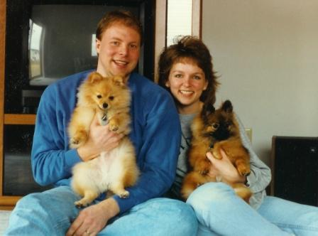 Bill & Michelle w/ The Pomeranians